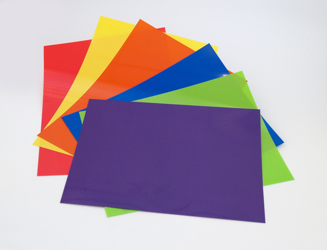 Colored Shrink Film Sheets