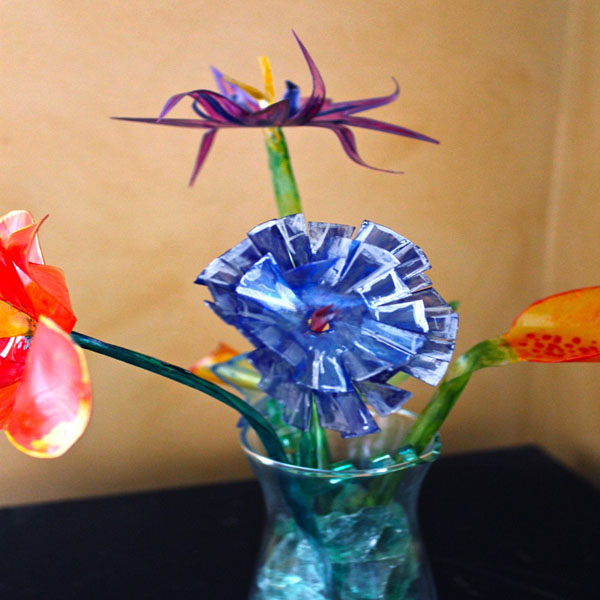 Faux Glass Flower 2