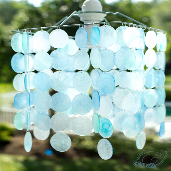 Grafix Beach Glass Chandelier 6