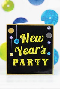 New Year's Party Invitation and Garland Picture