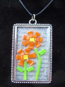 Colored Shrink Mosaic Pendant