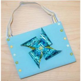 Craft Foam Purse with Funky Film Flower