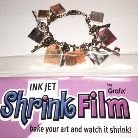 Vintage-Inspired Shrink Art Charm Bracelet