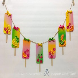 How to Use Computer Grafix to  Make a Popsicle Garland