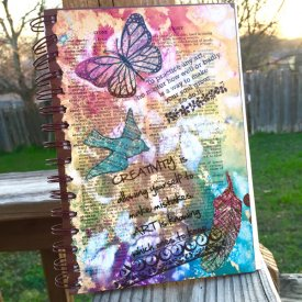 Altered Mixed Media Journal with Grafix