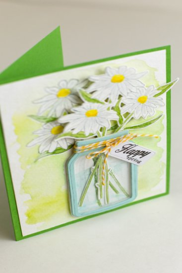 Happy Spring Daisy Bouquet Card