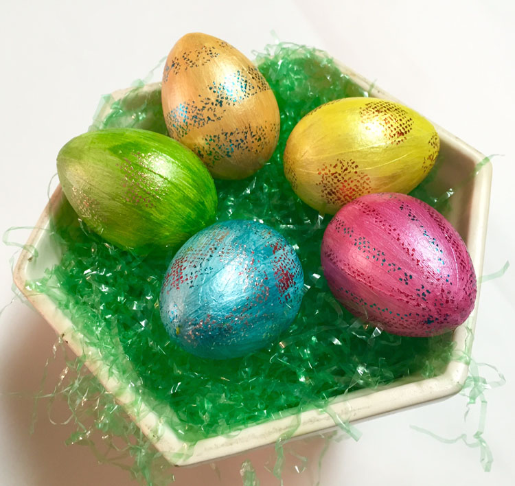 Basket of Easter Foiled Eggs