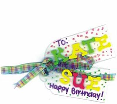 Craft Plastic Birthday Tag