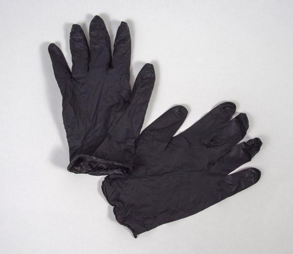 Edge Black Gloves