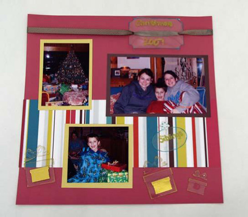 Grafix Clear Craft Plastic Scrapbook Page