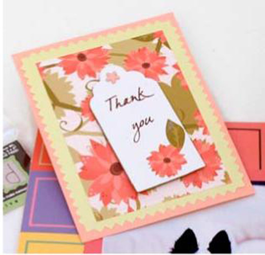 Chipboard Thank You Card