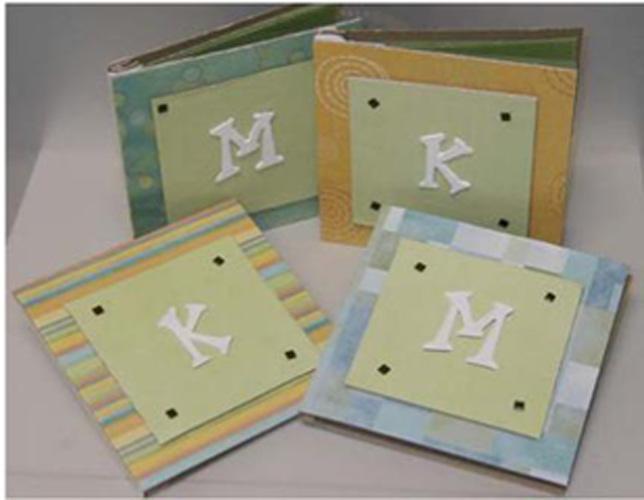 Monogrammed Chipboard Notebooks