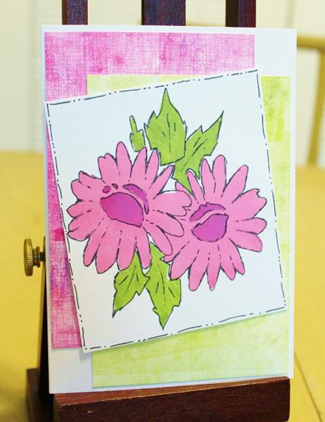 Card Set Made Using Grafix Stencil Film