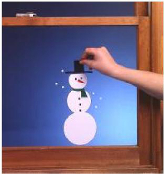 Cling Film Snowman Window Decoration