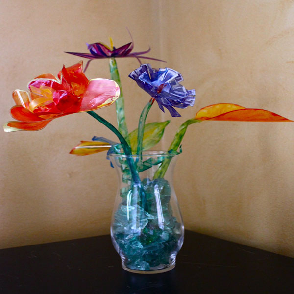 Faux Glass Flower 1