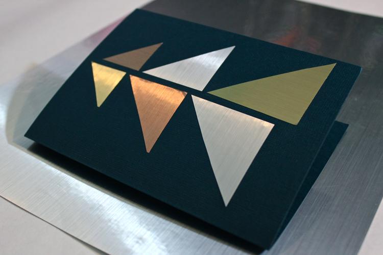 Holiday Shimmer Modern Cards