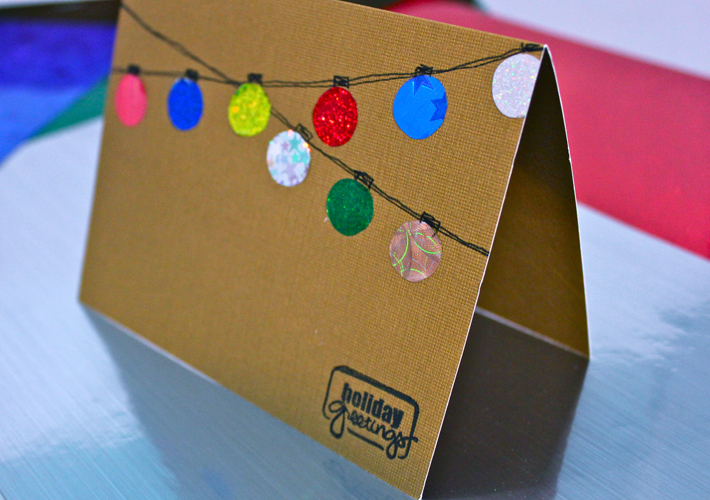 Holiday Shimmer Trendy Card