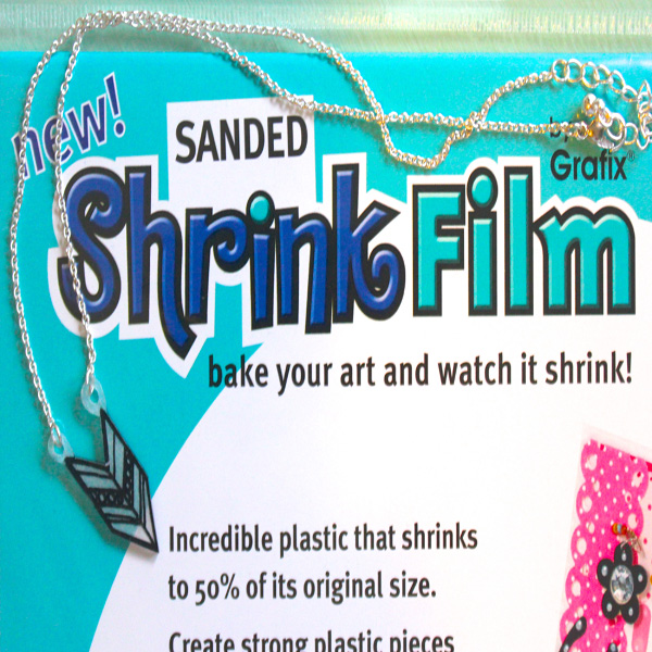 Sanded Shrink Film Geometric Mecklaces Picture 2