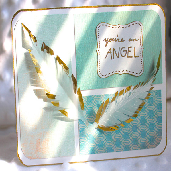 Vellum Feather Card