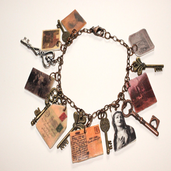Vintage Inspired Shrink Art Charm Bracelet Part 2