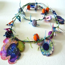 Grafix Clear and Matte Dura-Lar Film Necklace with Alcohol Ink