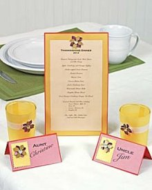 Thanksgiving Menu and Place Cards