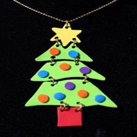 Funky Christmas Tree Pendant