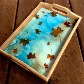 Floating Leaves Tray