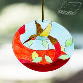 Faux Stained Glass Ornament