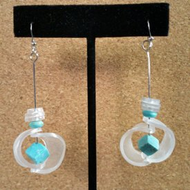 Contemporary Shrink Earrings
