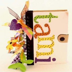 Charming Altered Notebook