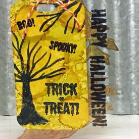 Cling Halloween Tag Card