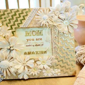 How to Make a Chic Shabby Foiled Frame for Mother's Day