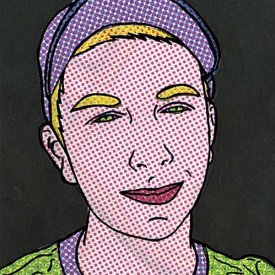 Lichtenstein Style Pop Art Portrait