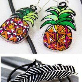 Shrink Plastic Jewelry Using Coloring Pages