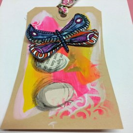 Mixed Media and Artist Series Shrink Film Tag