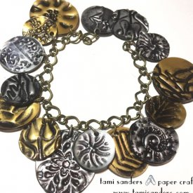 Metallic Grafix Shrink Film Charm Bracelet