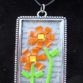 Grafix Colored Shrink Film Mosaic Pendant