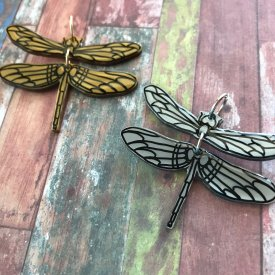 Dragonfly Shrink Film Charms