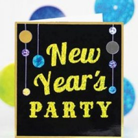 New Year's Party Invitation and Garland