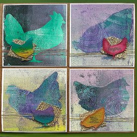 Monoprint Note Cards