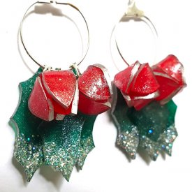 Grafix Sanded Shrink Film Christmas Earrings