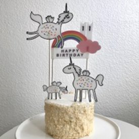Shrinkable Cake Topper Decor
