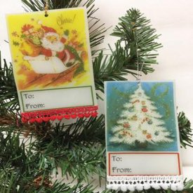 How to Make Grafix Inkjet Shrink Film Christmas Tags