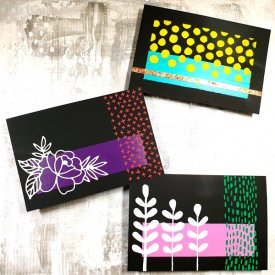 Grafix Opaque Black Craft Plastic Colored Block Postcard