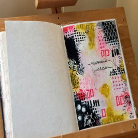 Abstract Art Journaling with Dura-Lar Film
