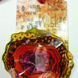 Transparent Floral Gift Tag