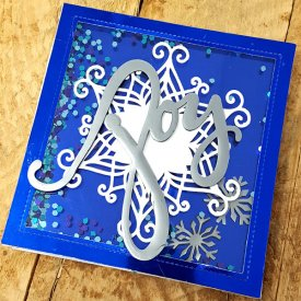 Peace, Love, and Joy Trifold Shaker Card