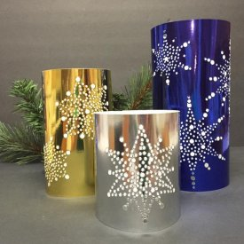 How To Make Snowflake Luminaries with Grafix's Metallic Foil