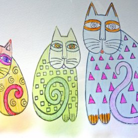 Cat Cling Stickers